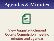 Agendas & Minutes - View Augusta-Richmond County Commission meeting minutes and agendas