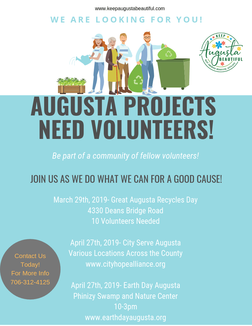 Augusta Projects Need Volunteers!