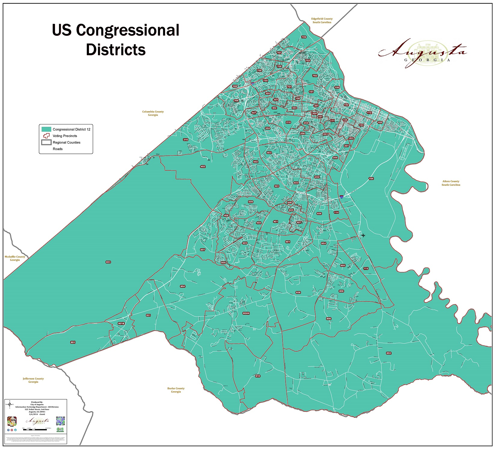 Map Of Georgia 10th Congressional District.Map Information Augusta Ga Official Website
